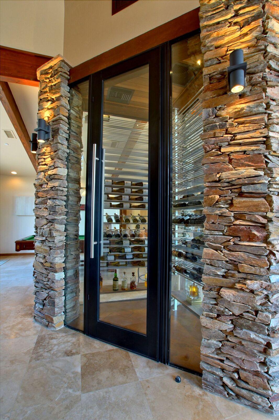 Natural Stone Wine Room