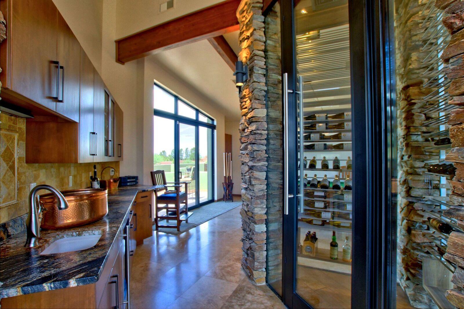 Stone Veneer Wine Room
